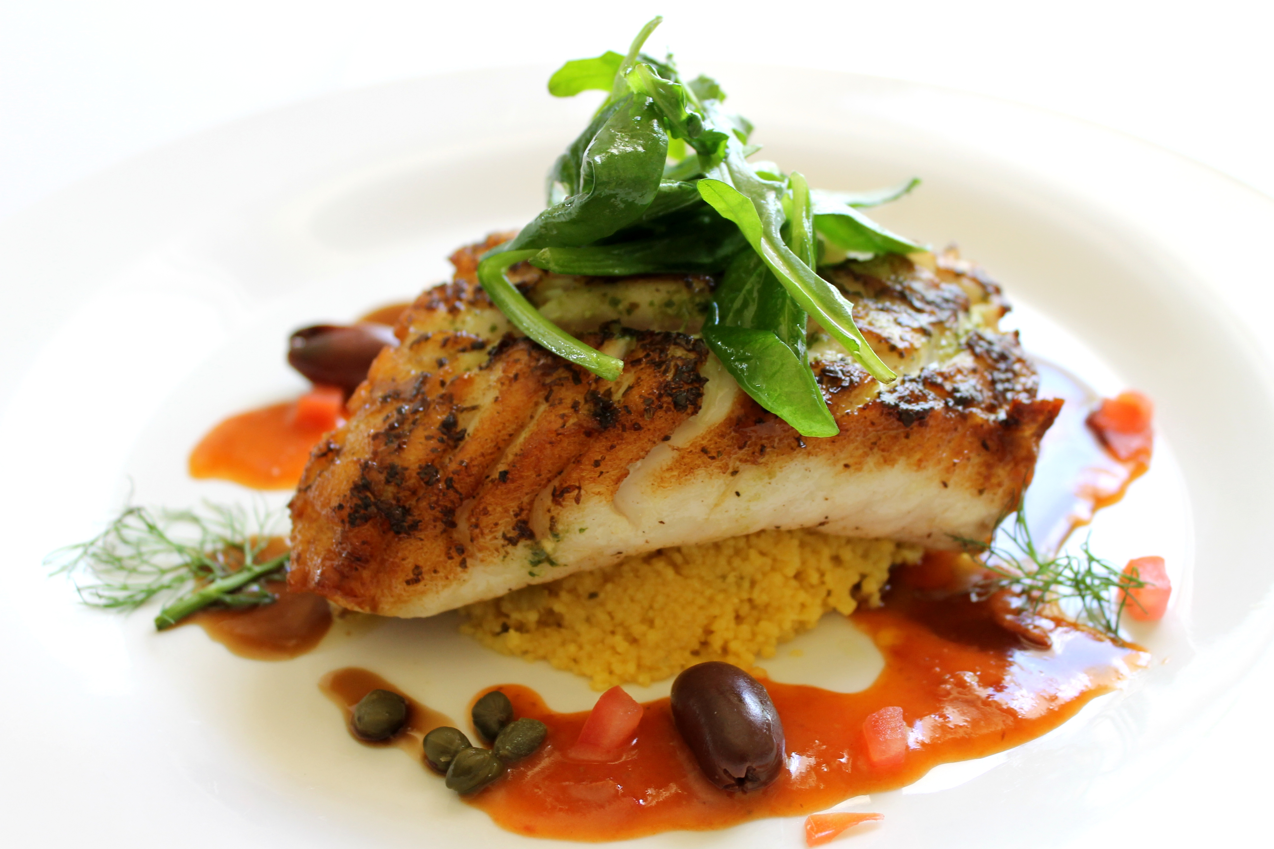 Creole Spiced Grouper with Saffron Couscous