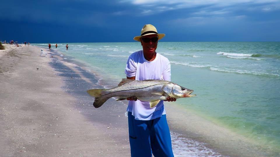 guest catch snook on island inn beach