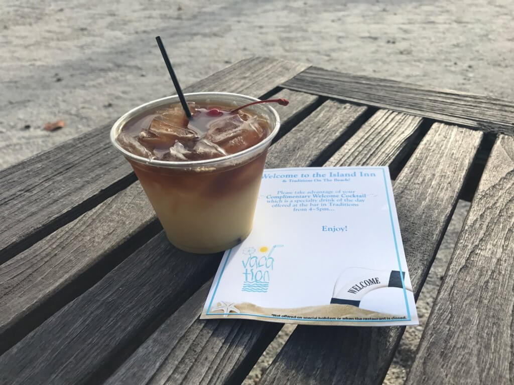sanibel welcome cocktail for guests of island inn