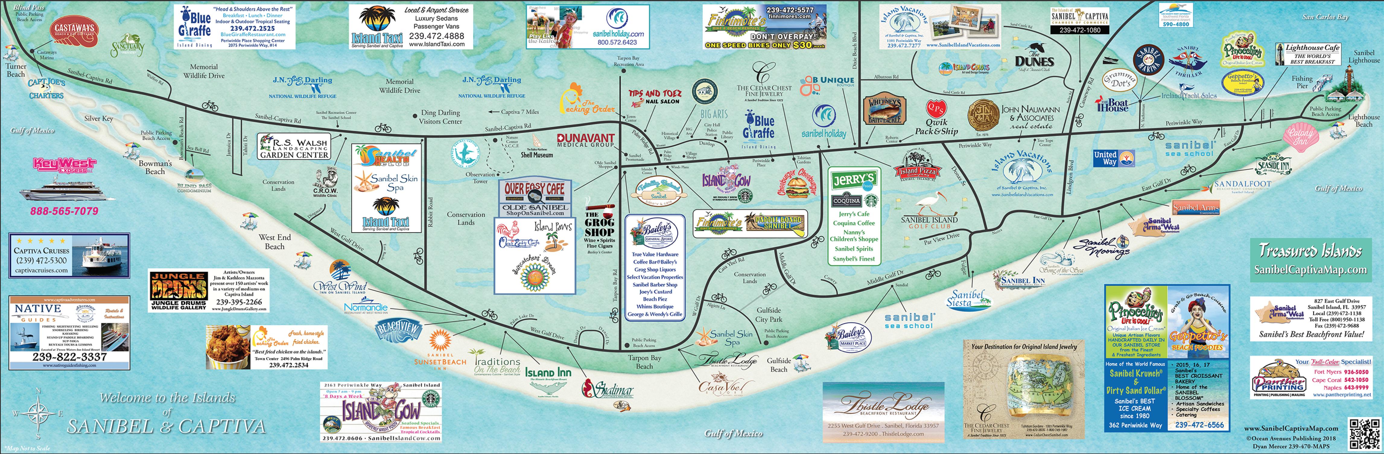 Map Sanibel Island Sanibel Island Map | Guest Information | Island Inn